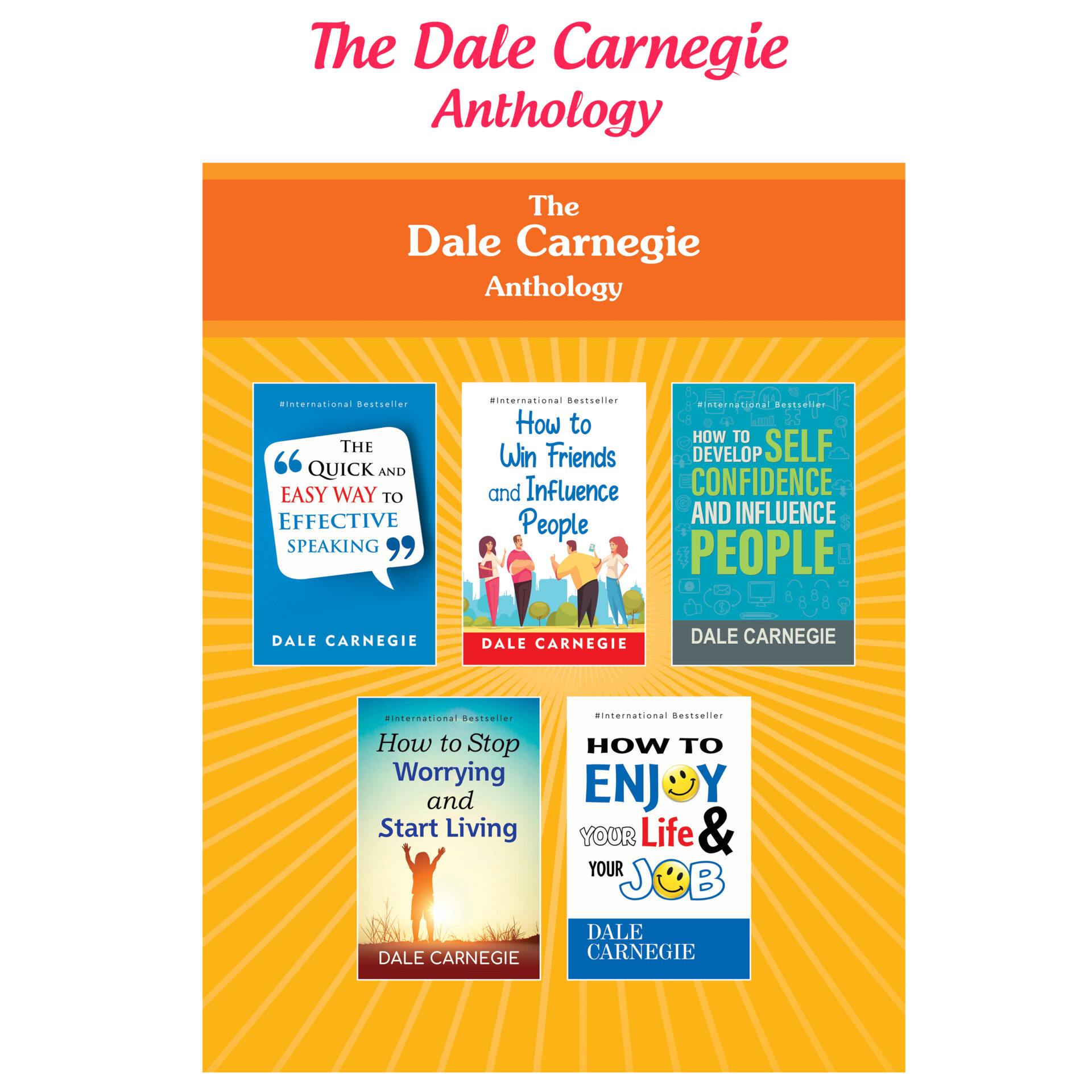 Best of Dale Carnegie For Personality Development Books Set Set of 5 6