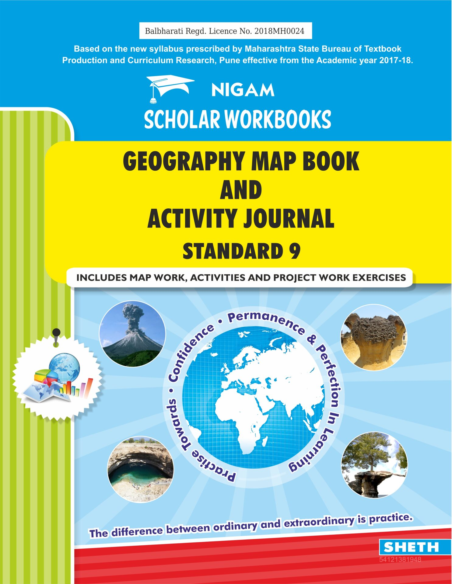 CCE Pattern Nigam Scholar Workbooks Geography Map Book And Activity Journal Standard 9 1