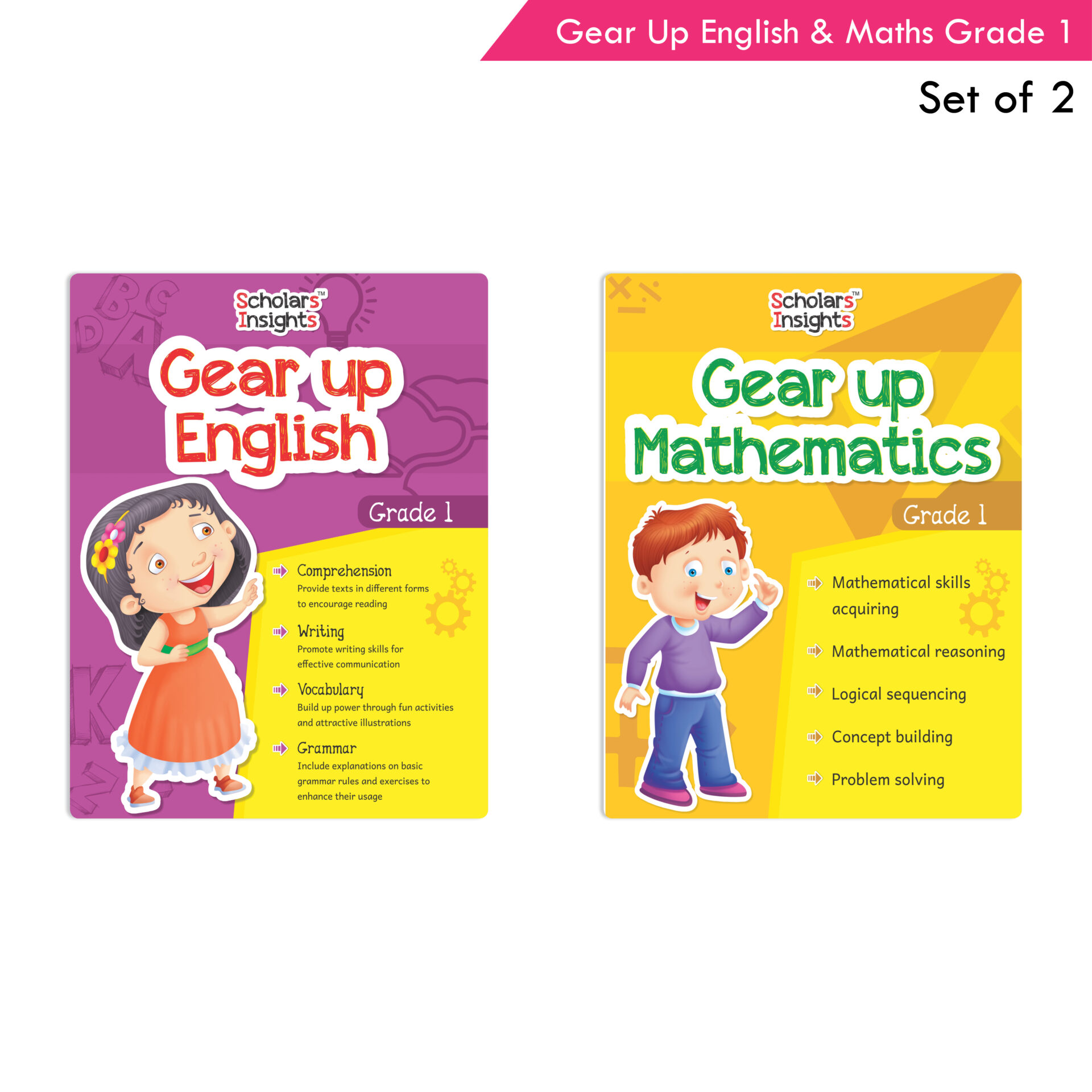 Scholars Insights Gear Up English and Maths Grade 1 Set of 2 1