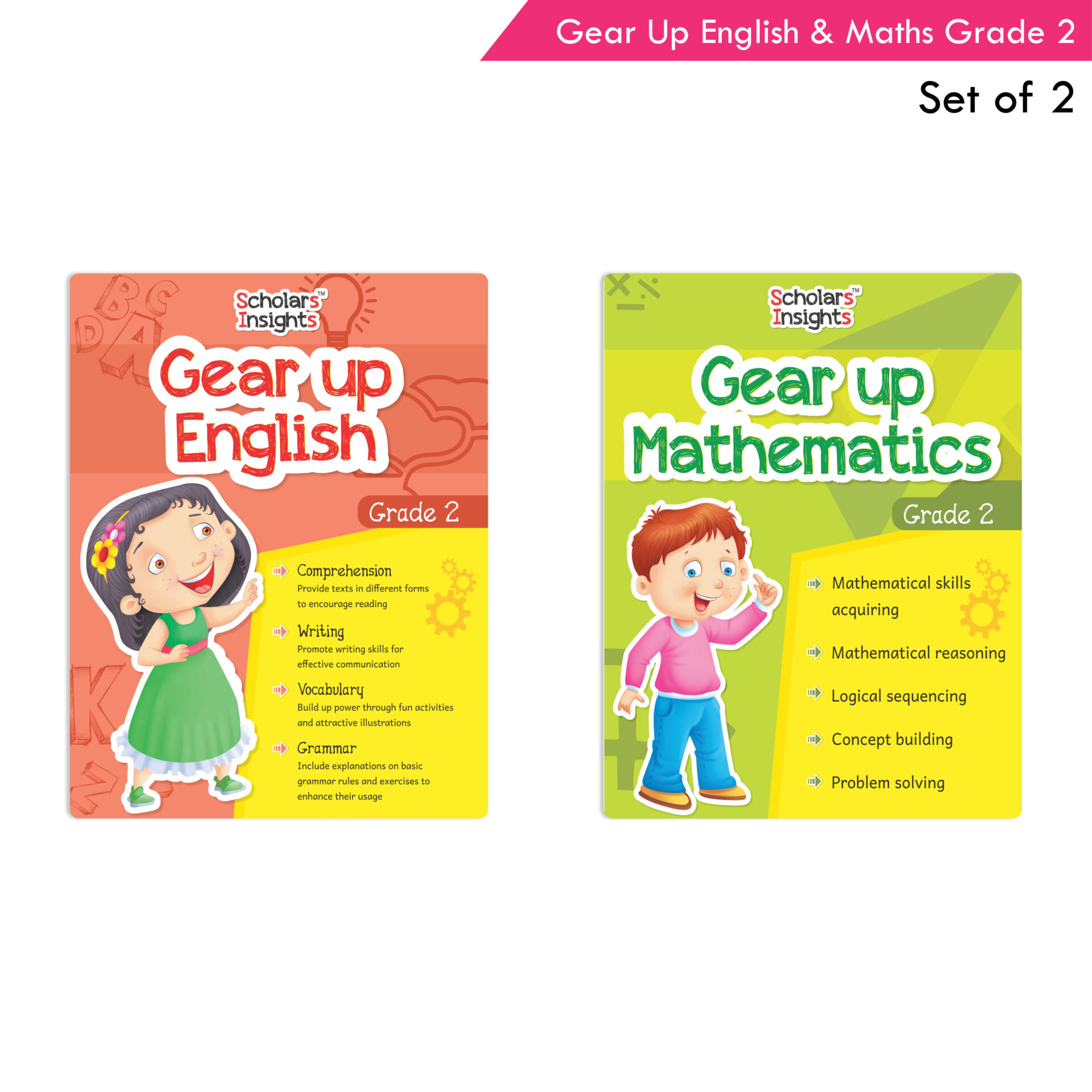 Scholars Insights Gear Up English and Maths Grade 2 Set of 2 1