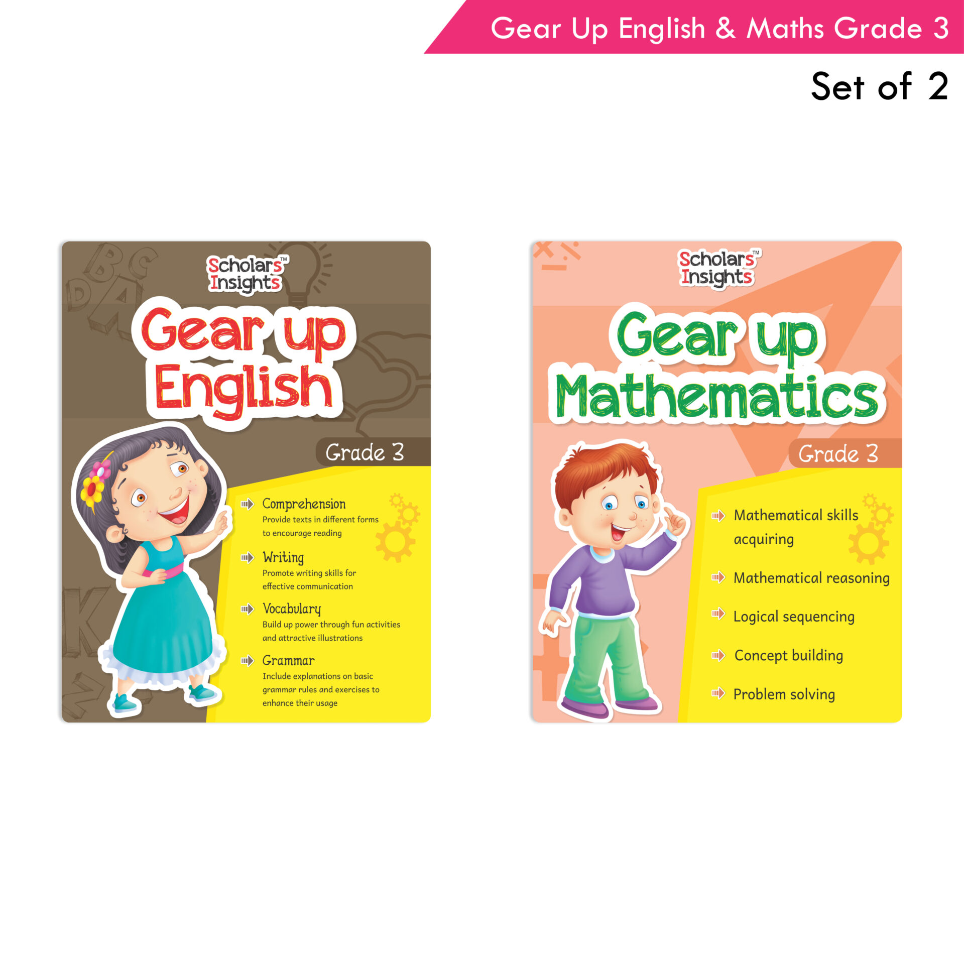 Scholars Insights Gear Up English and Maths Grade 3 Set of 2 1