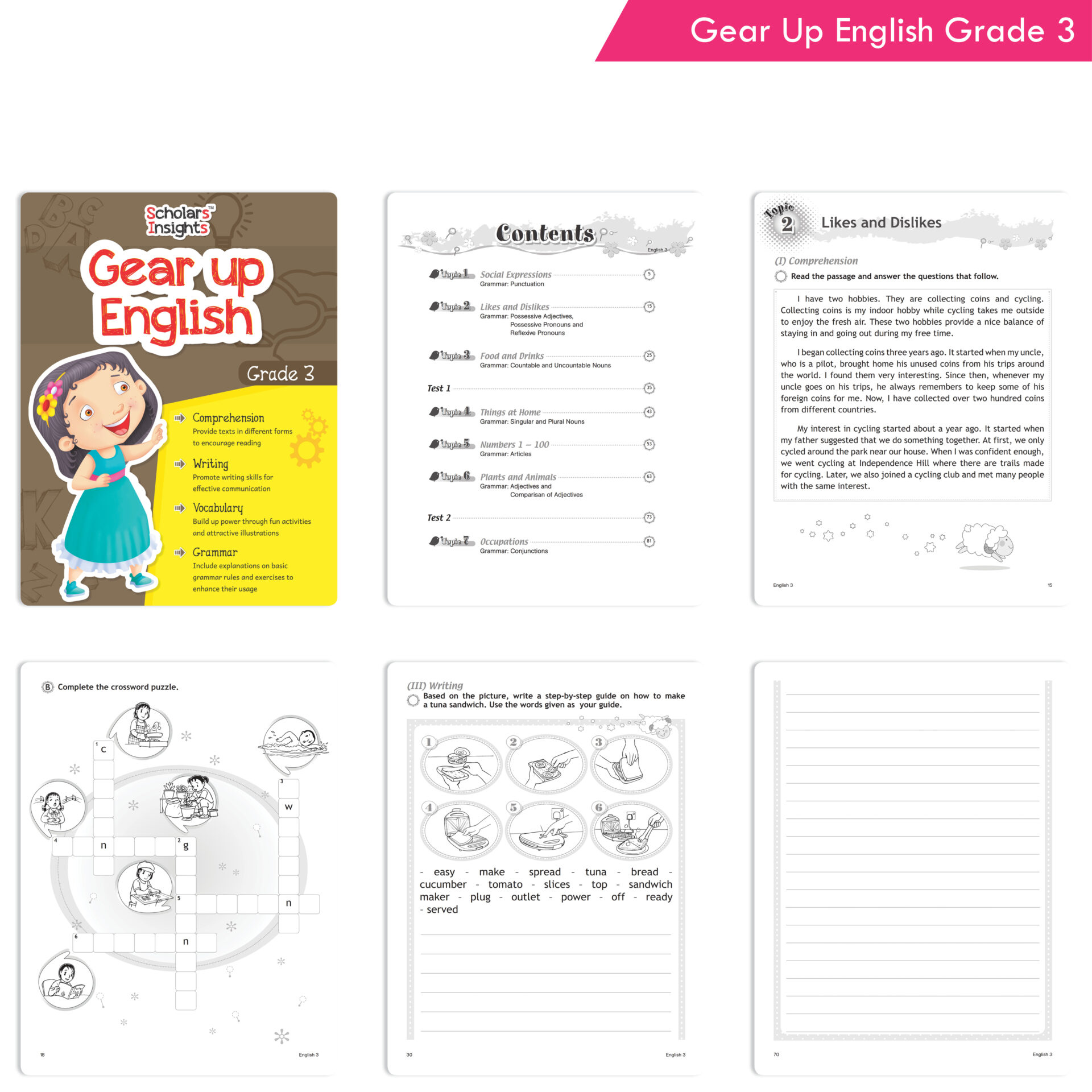 Scholars Insights Gear Up English and Maths Grade 3 Set of 2 2