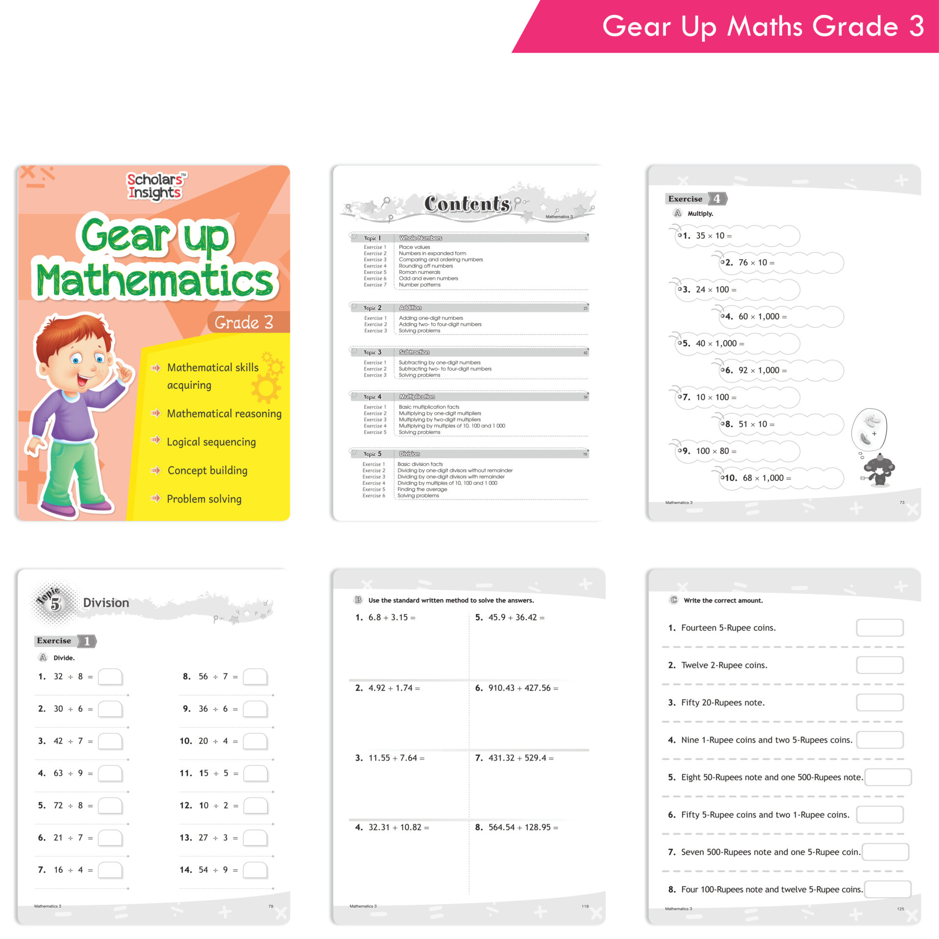 Scholars Insights Gear Up English and Maths Grade 3 Set of 2 3