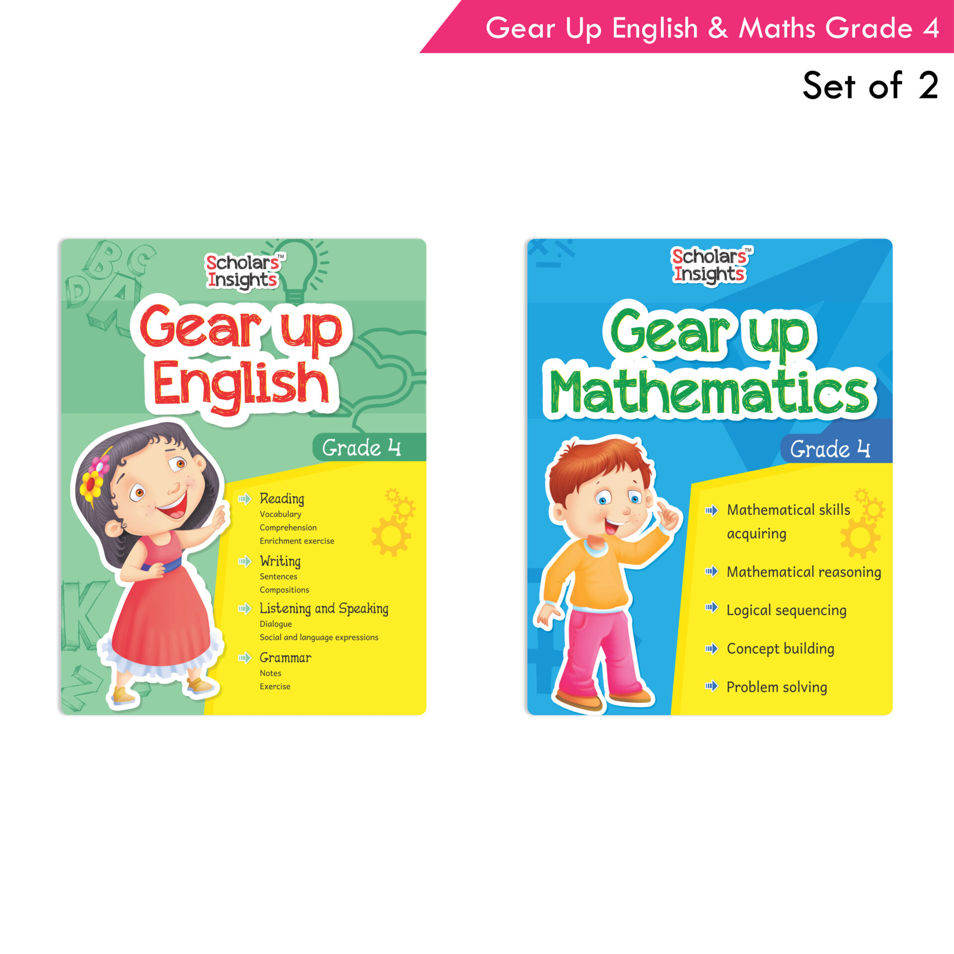 Scholars Insights Gear Up English and Maths Grade 4 Set of 2 1