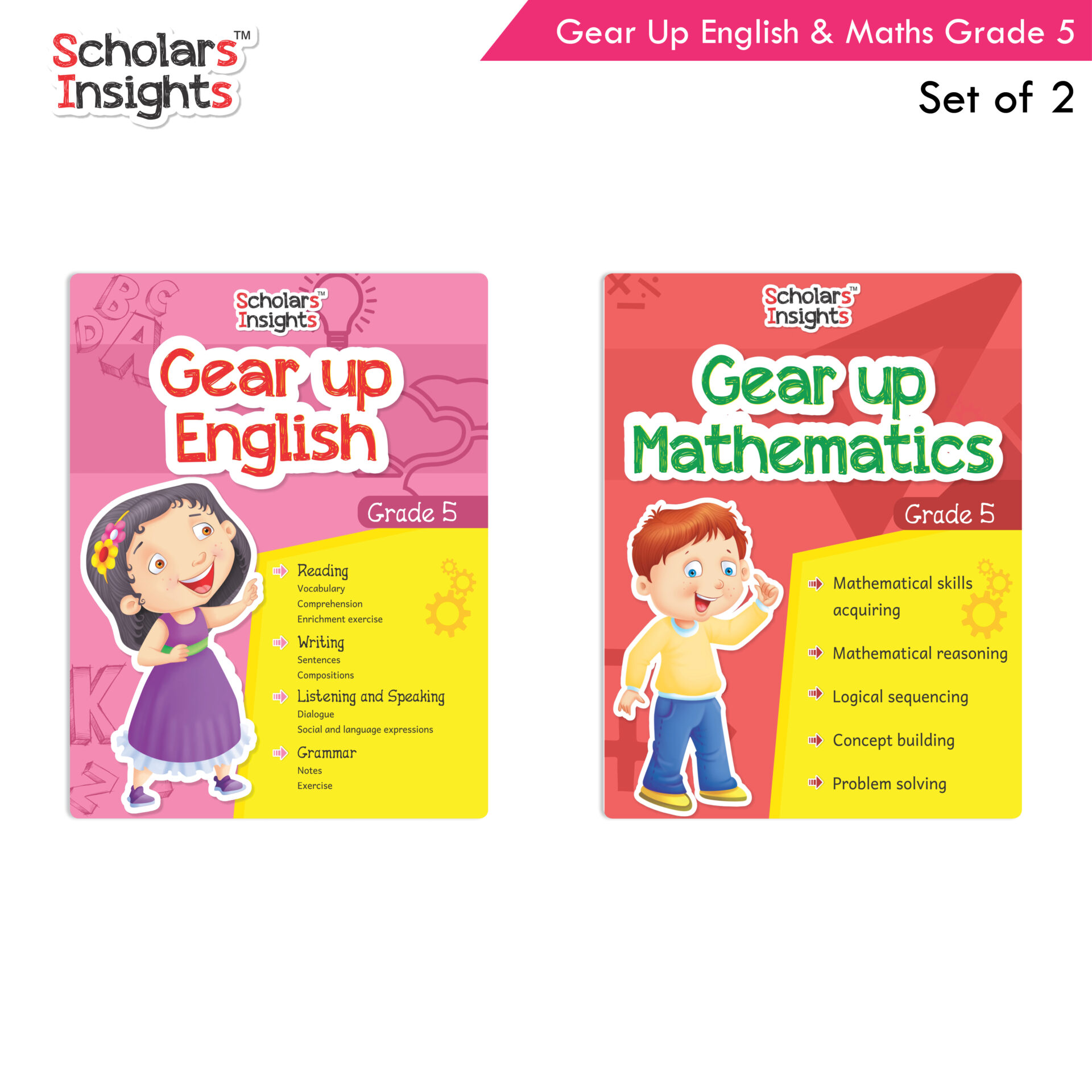 Scholars Insights Gear Up English and Maths Grade 5 Set of 2 1