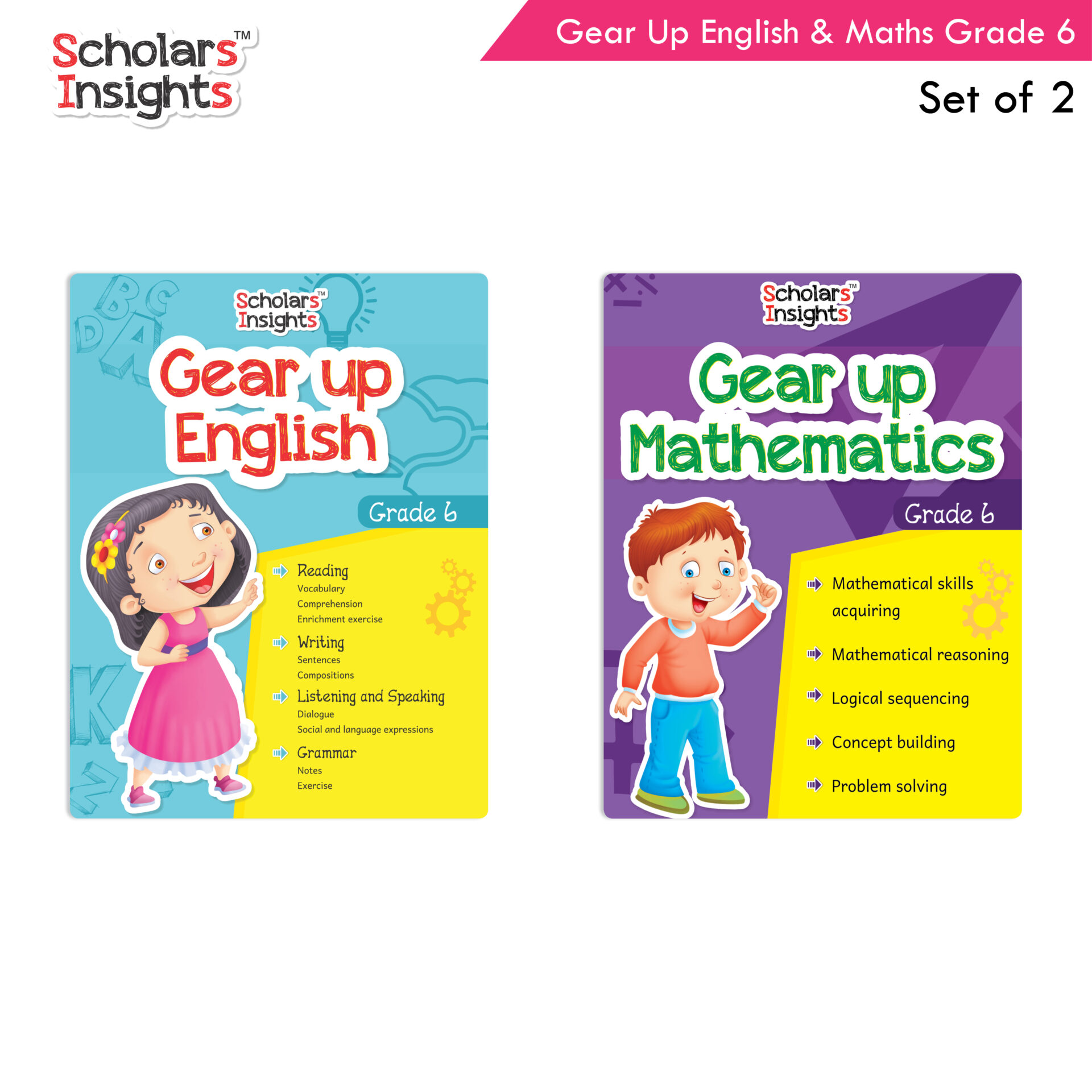 Scholars Insights Gear Up English and Maths Grade 6 Set of 2 1