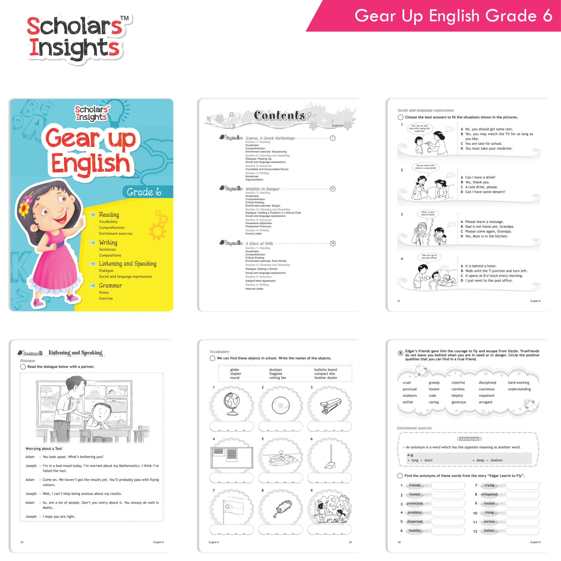 Scholars Insights Gear Up English and Maths Grade 6 Set of 2 2