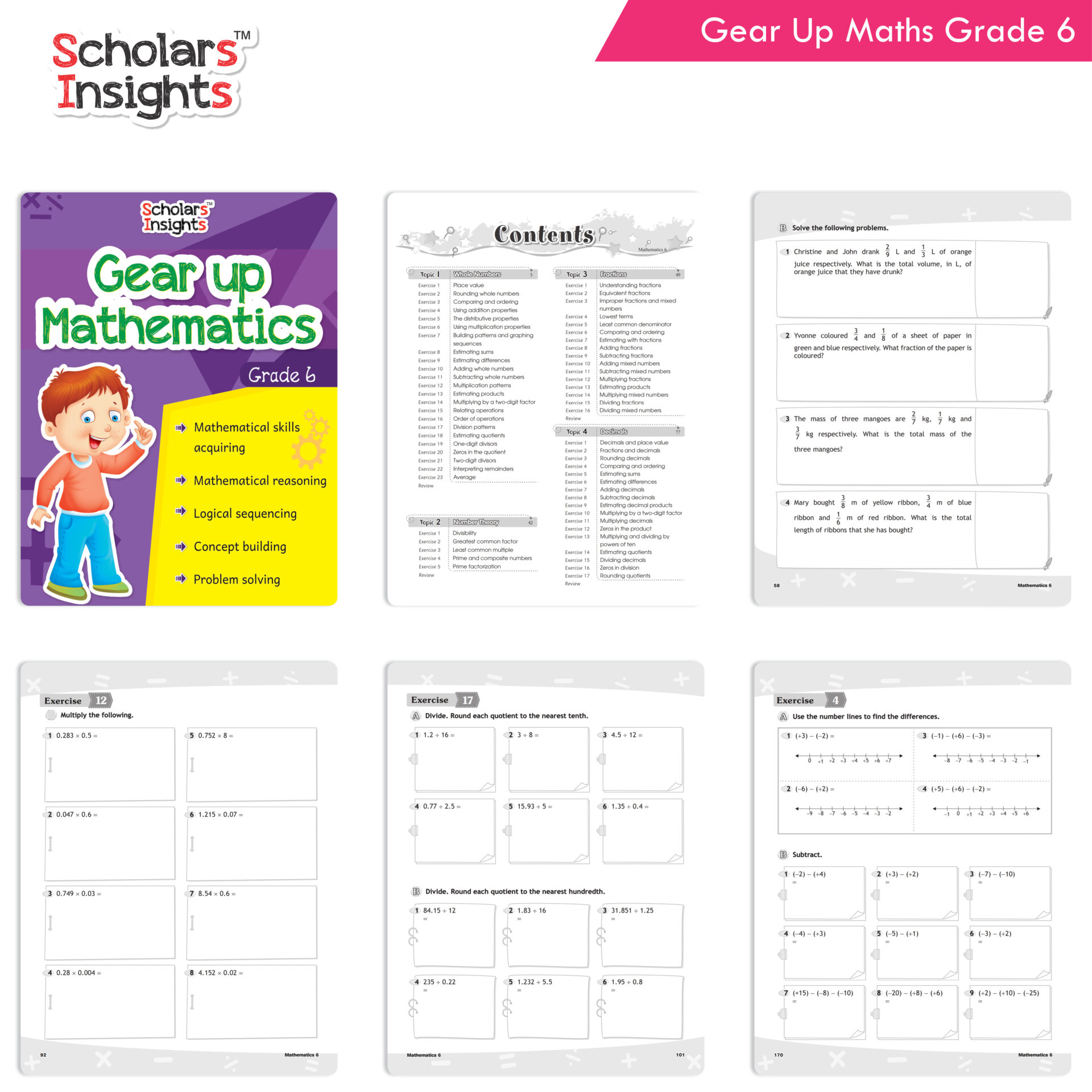Scholars Insights Gear Up English and Maths Grade 6 Set of 2 3