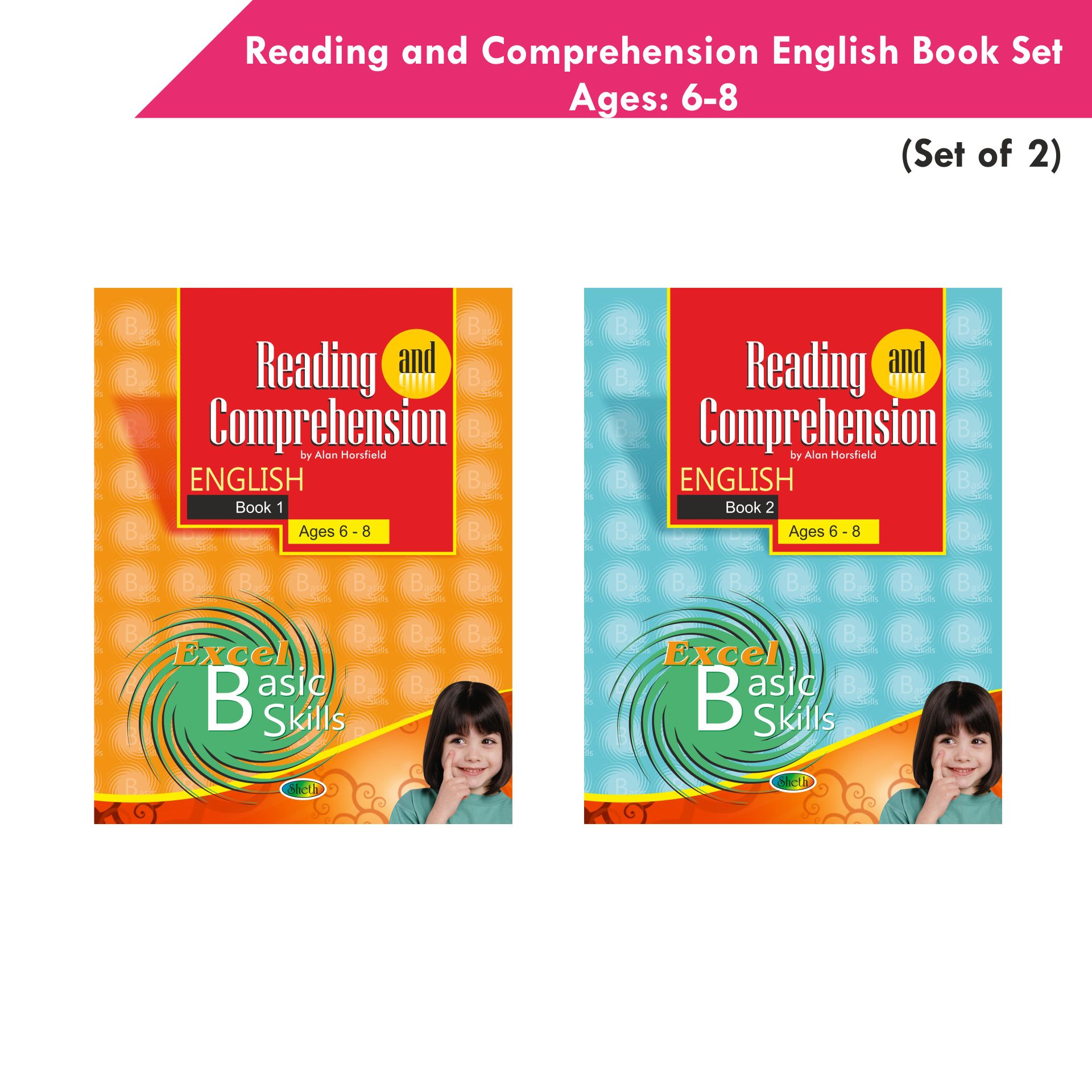 Excel Reading and Comprehension English Book Set 1 Set of 2 1