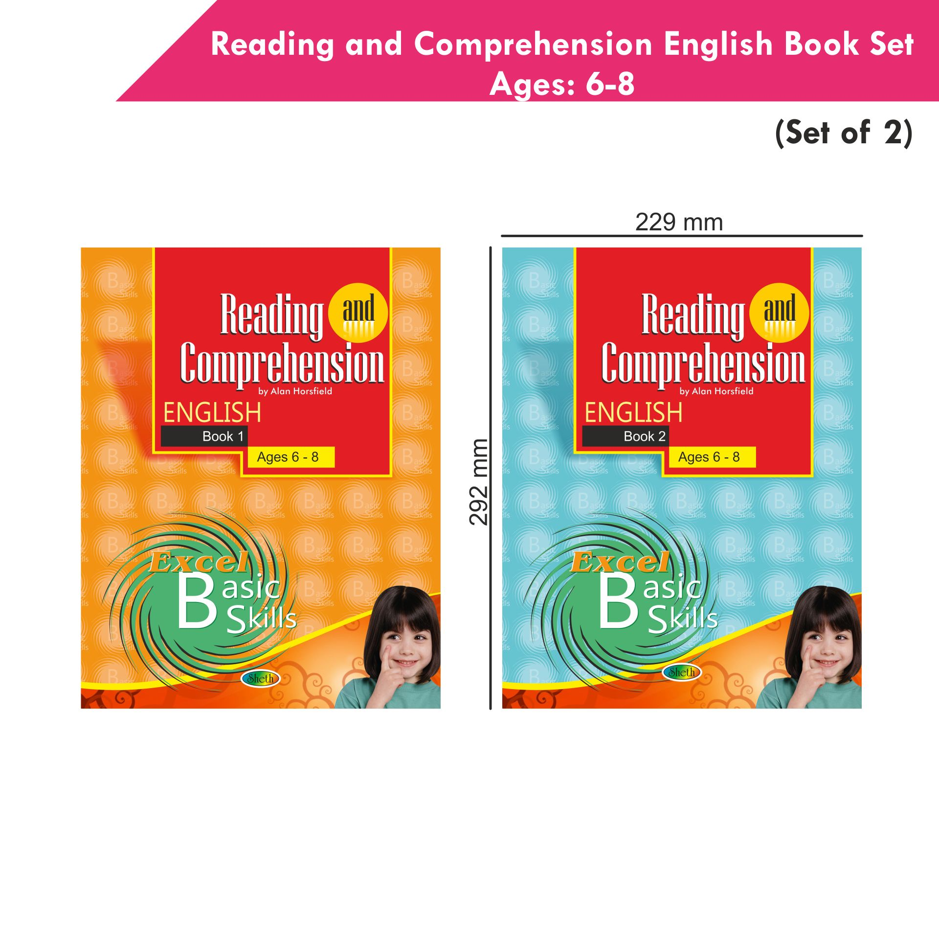Excel Reading and Comprehension English Book Set 1 Set of 2 2