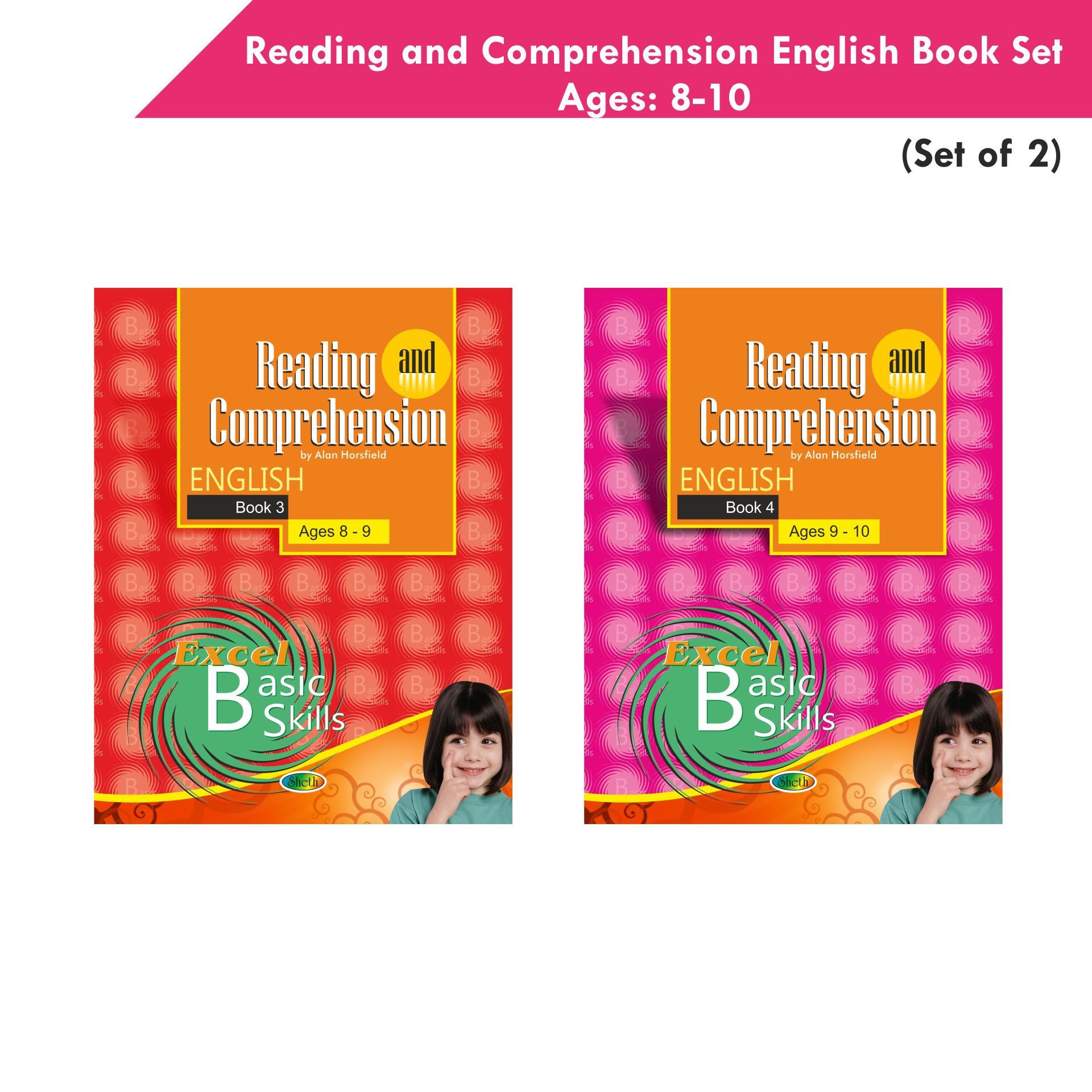 Excel Reading and Comprehension English Book Set 2 Set of 2 1