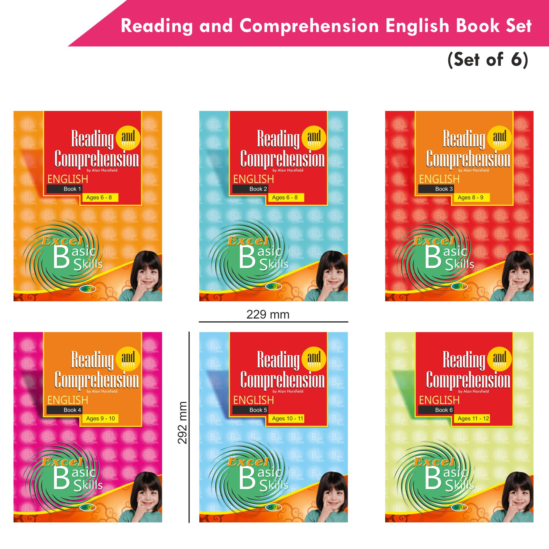Excel Reading and Comprehension English Book Set Set of 6 2