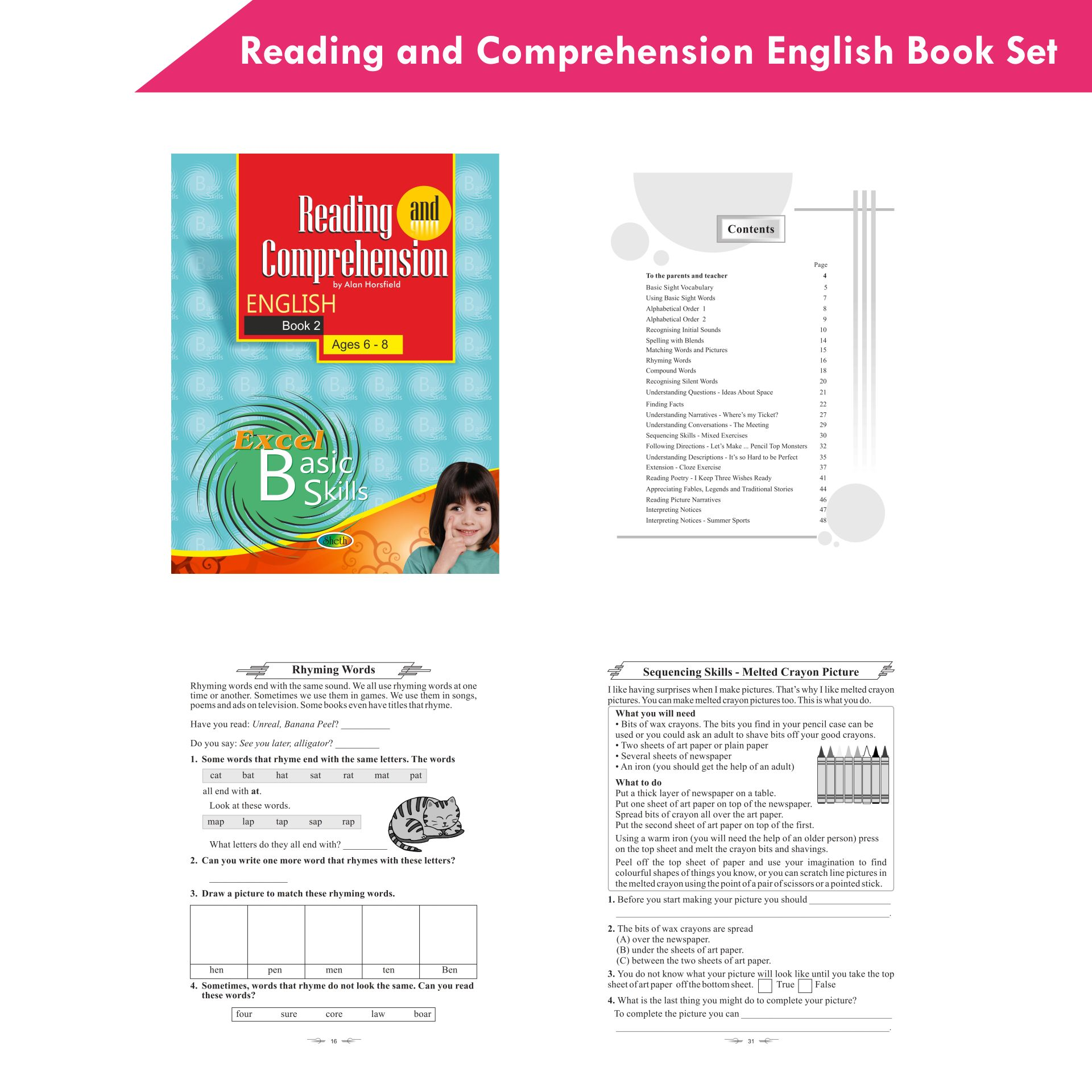 Excel Reading and Comprehension English Book Set Set of 6 4