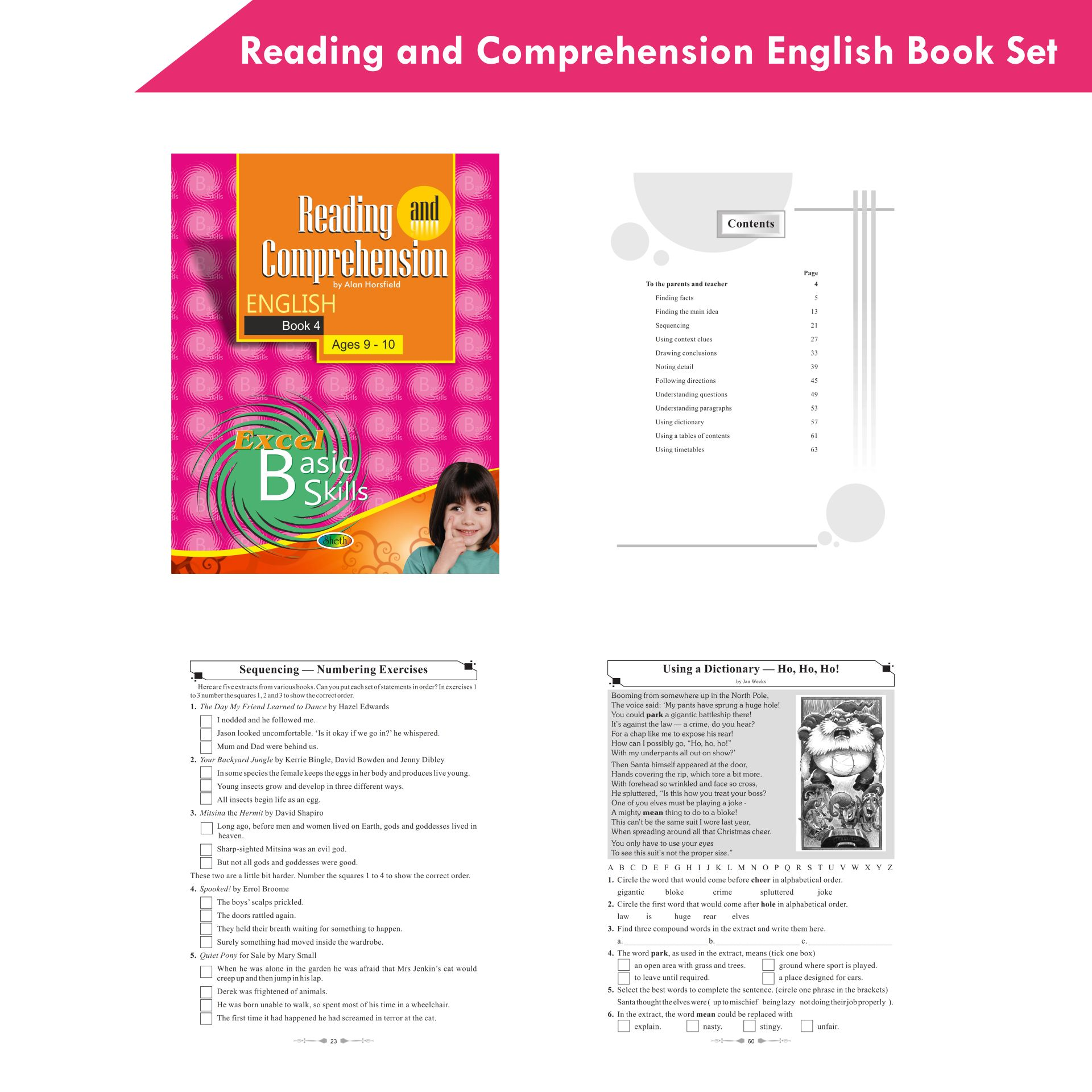 Excel Reading and Comprehension English Book Set Set of 6 6