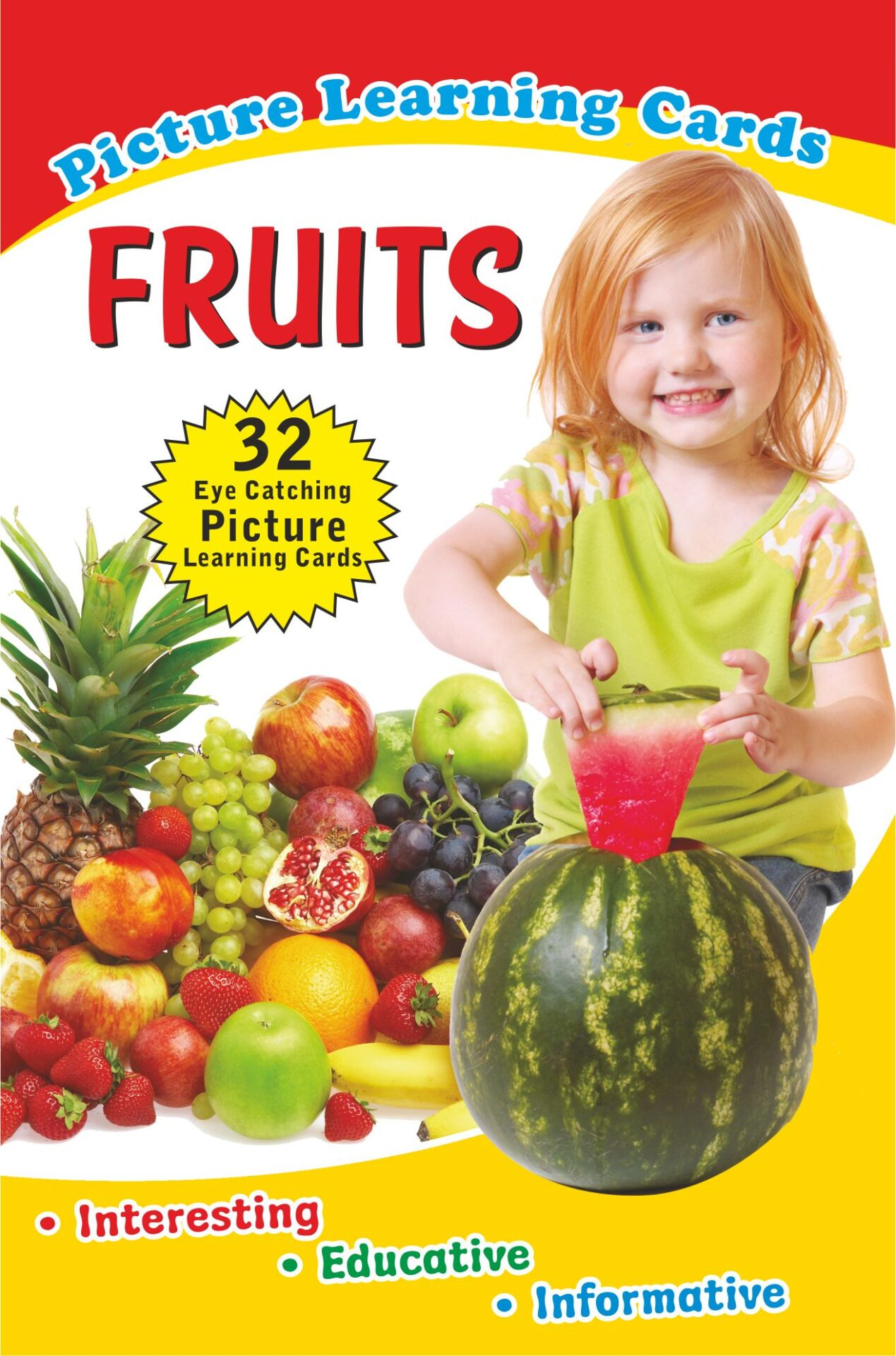 Jolly Kids Flash Cards Fruits 1
