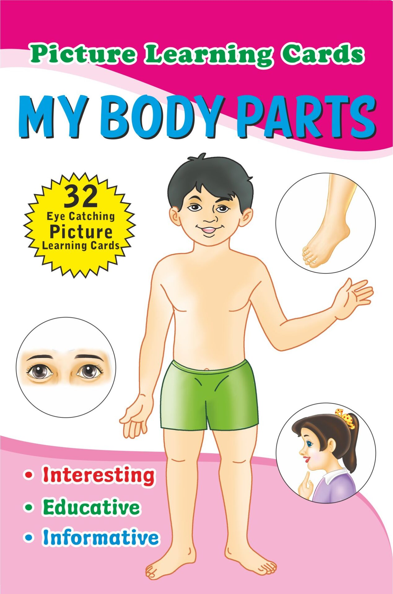 Jolly Kids Flash Cards My Body Parts 1