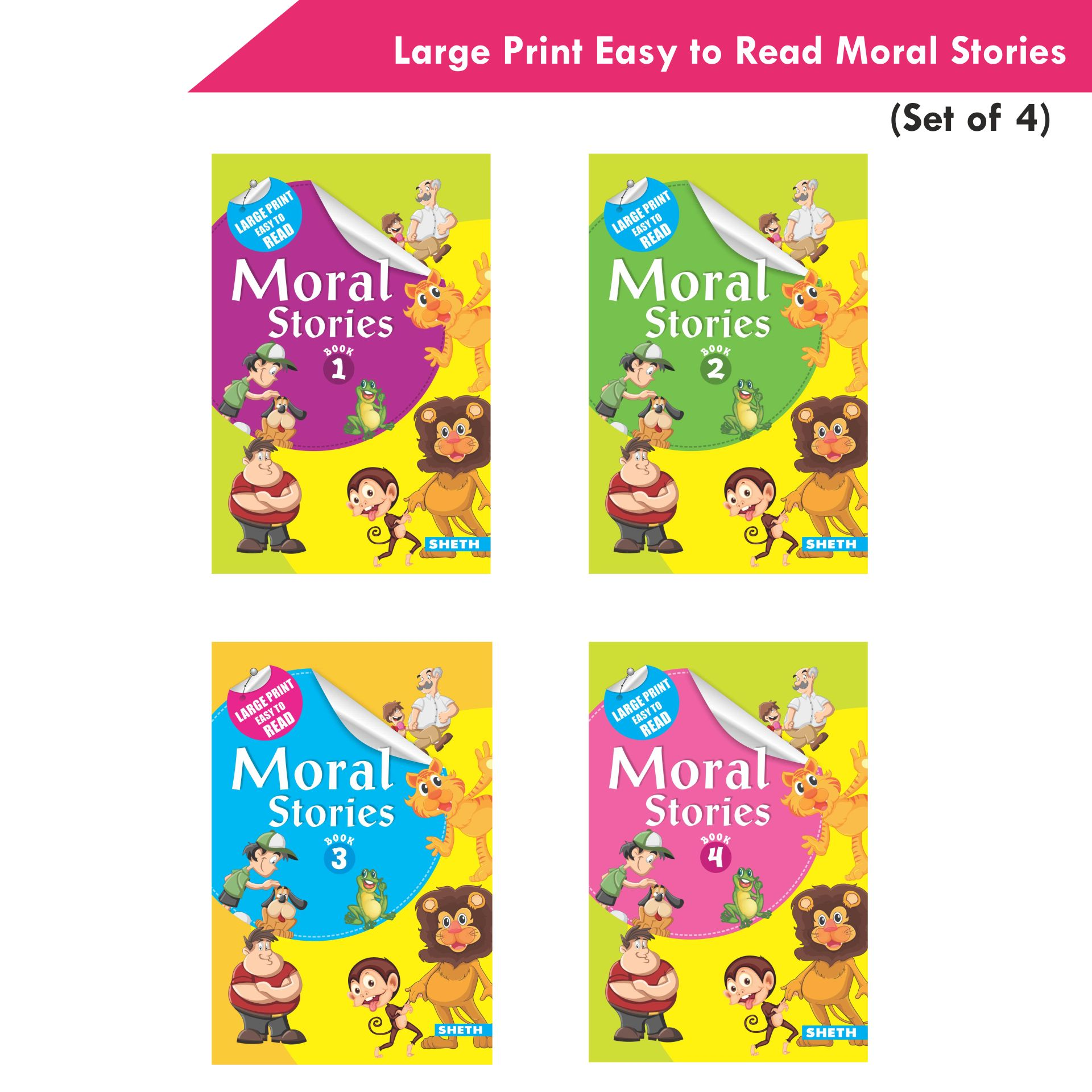 Large Print Easy to Read Moral Stories Set of 4 1