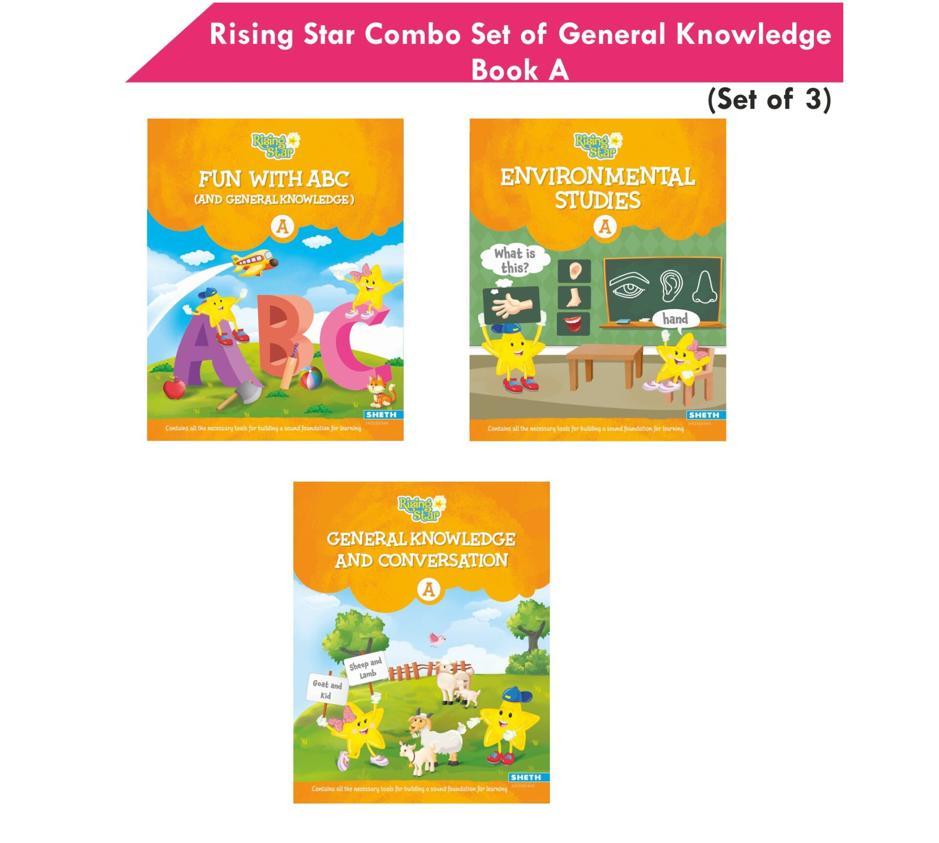 Rising Star Combo Set of General Knowledge Book Set A Set of 3 1