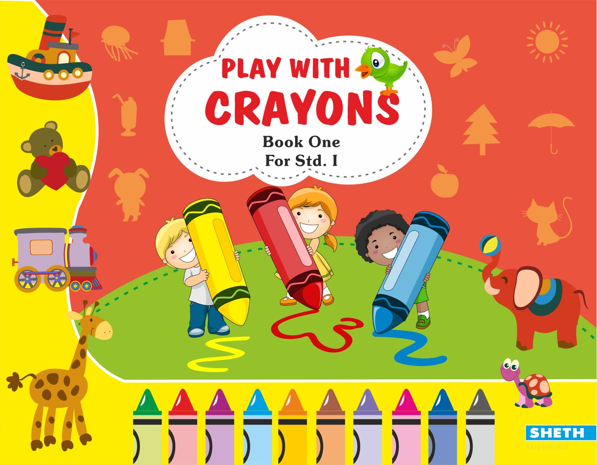 Sheth Books Play with Crayons Book 1 for Std. I 1