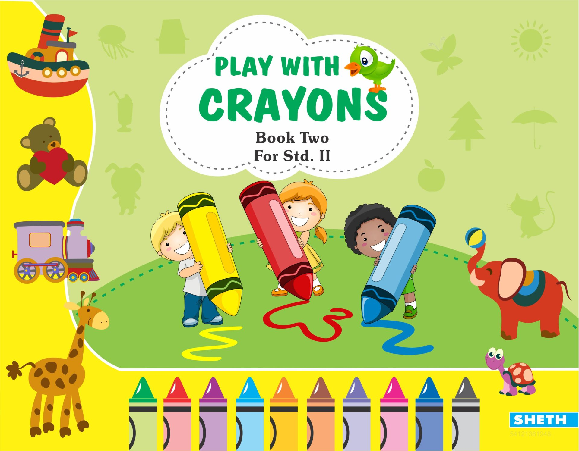 Sheth Books Play with Crayons Book 2 for Std. II 1
