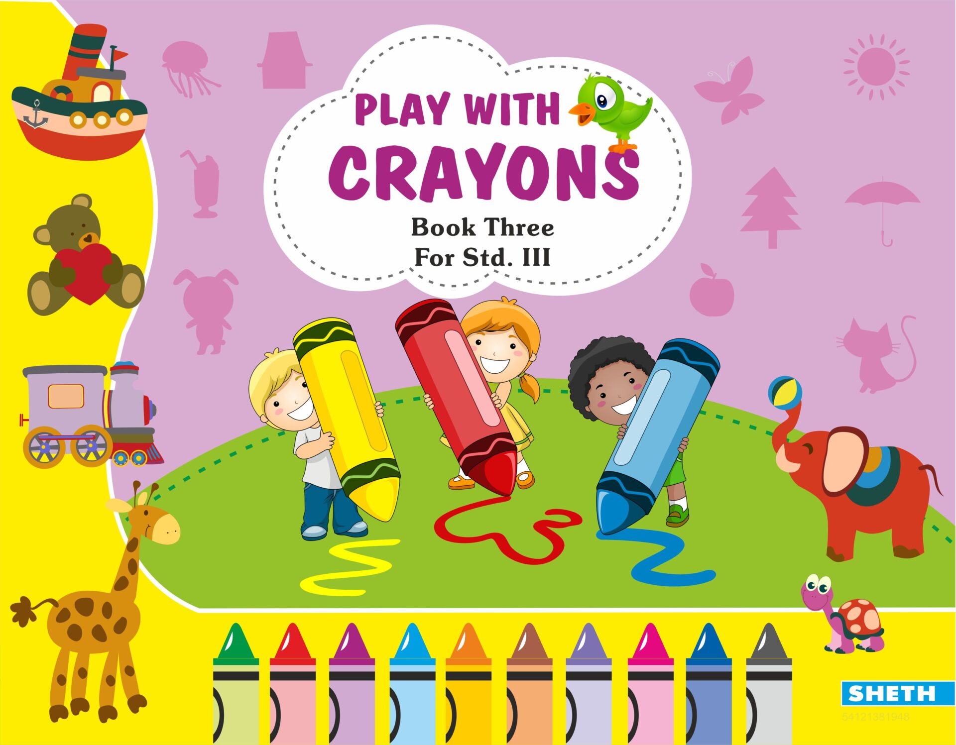 Sheth Books Play with Crayons Book 3 for Std. III 1