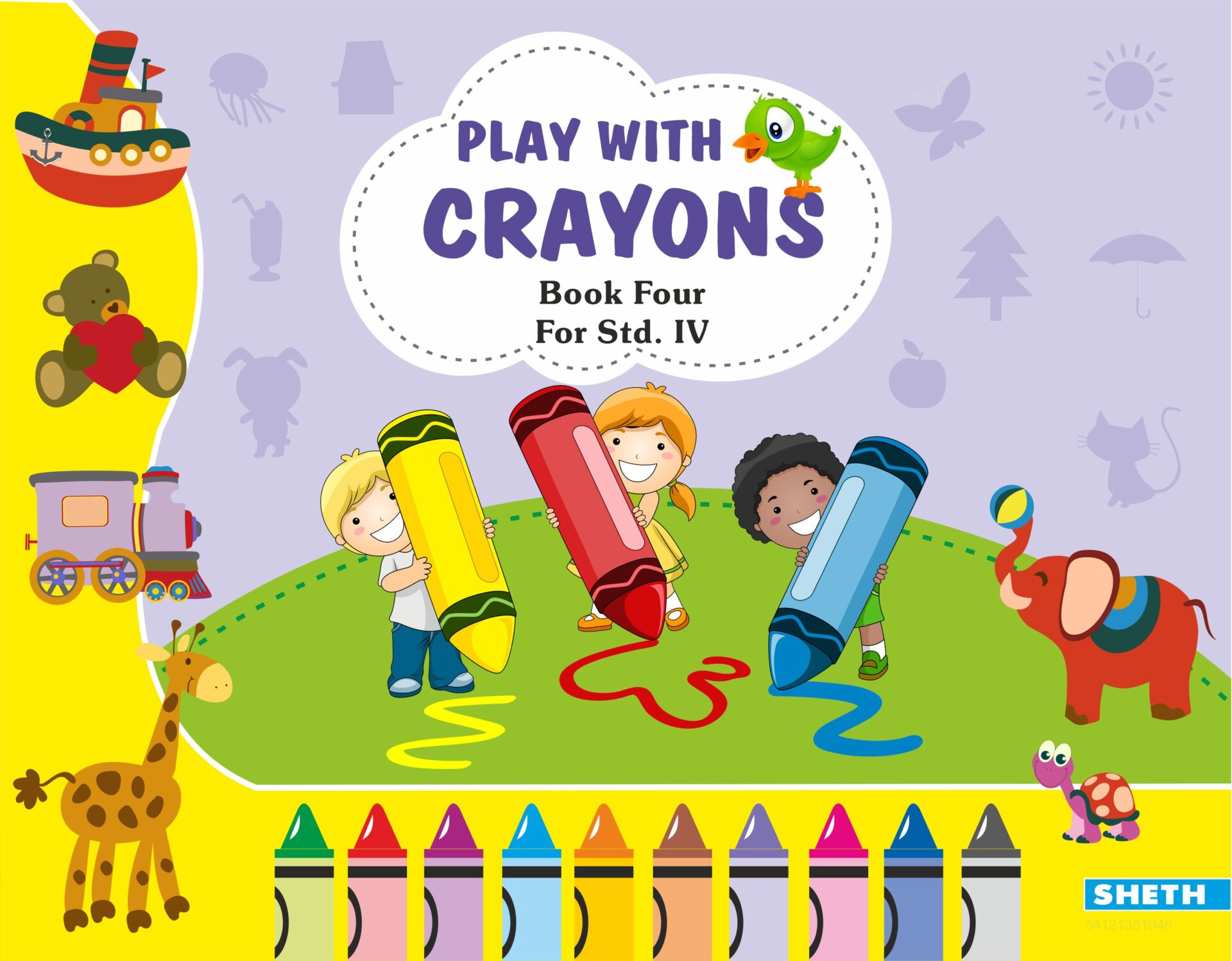 Sheth Books Play with Crayons Book 4 for Std. IV 1