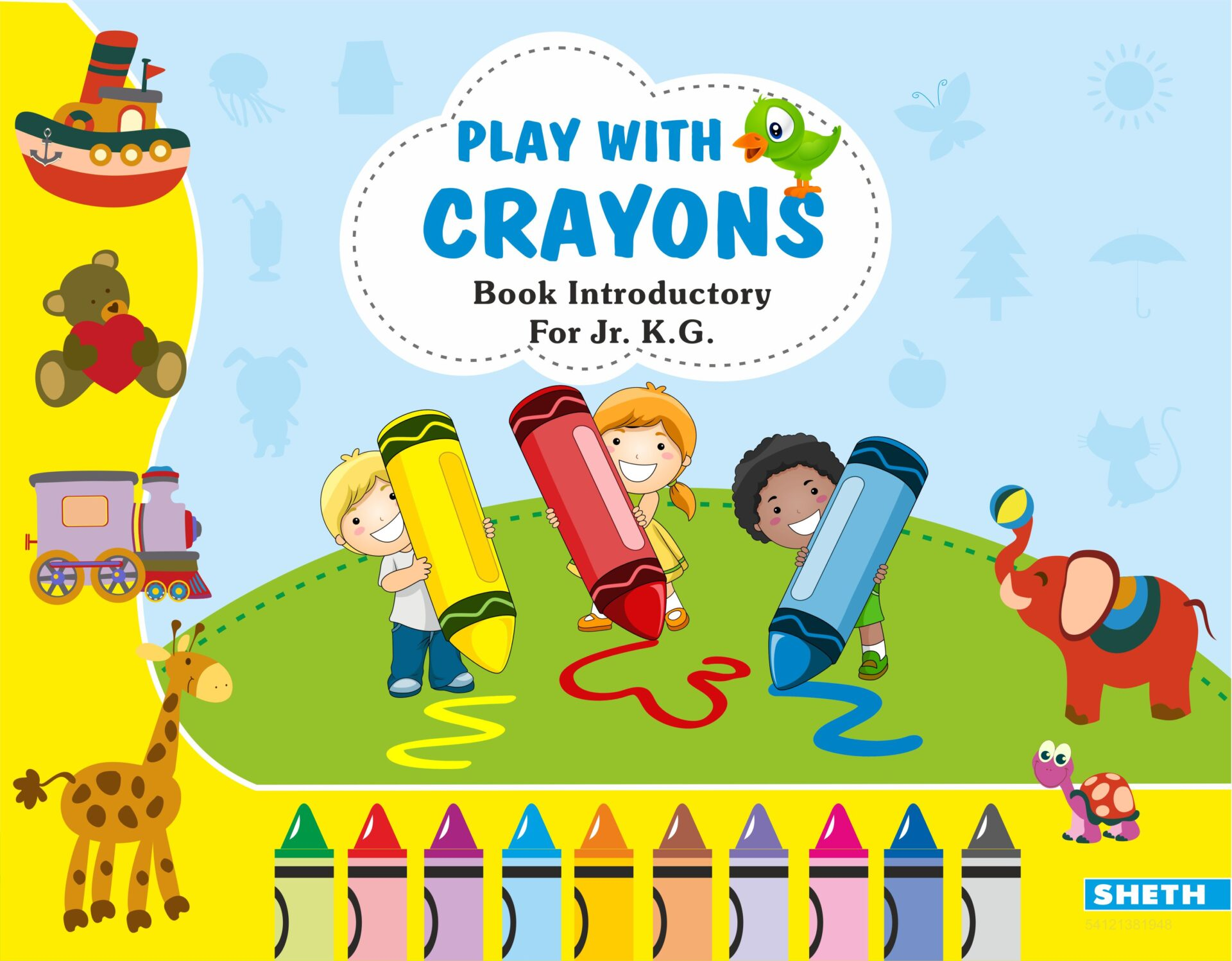 Sheth Books Play with Crayons Book Introductory for Jr. K.G 1